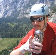 Rock Climbing Photo: all beer ascent of 'serenity and sons'