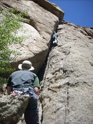 Rock Climbing Photo: Looking up at Roof Bypass. At the top you can see ...