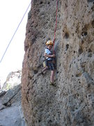 Rock Climbing Photo: Cody cleaning gear on his way up The Shoe June 13,...