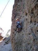 Rock Climbing Photo: Miles (age 3) pausing for the photo-op on The Shoe...