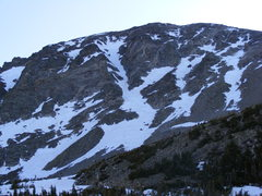 Rock Climbing Photo: Conditions on June 15, 2008, a late snow year. The...