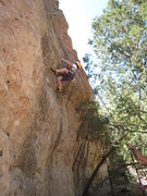 Rock Climbing Photo: Cody making the final moves of the cruxy opening o...