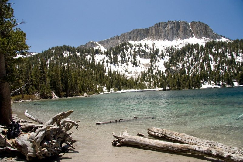 Rock Climbing Photo: Mammoth Crest from Macleod Lake.