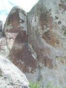 Rock Climbing Photo: The route follows the LF dihedral after passing so...