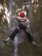 Rock Climbing Photo: Leading trad!