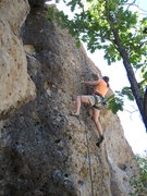 Rock Climbing Photo: Rachael enjoying the buckets on her way up The Bli...