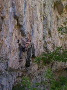Rock Climbing Photo: Ian bouldering out the bottom crux.
