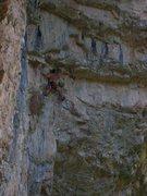 "Rock Climbing Photo: Chris K leaving the ""perch"" and preparin..."