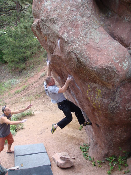 Rock Climbing Photo: Only the beginning of Just Right.
