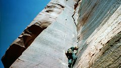 Rock Climbing Photo: me leading binuos crack