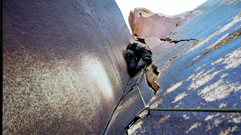 Rock Climbing Photo: twin crack