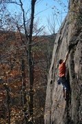 Rock Climbing Photo: Climbing an easy 5.9 at Suicide bowl