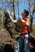 Rock Climbing Photo: Belaying at Suicide Bowl
