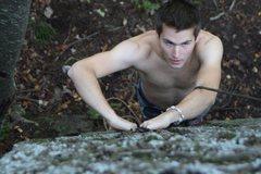 Rock Climbing Photo: climbing at Marquette Mountain