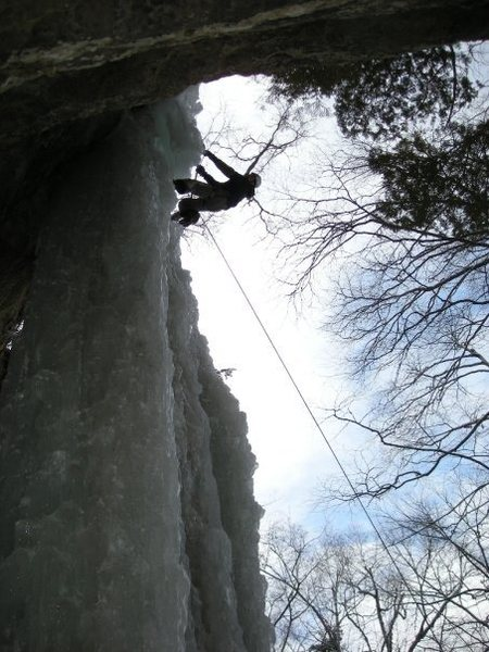 Rock Climbing Photo: Here's a look at what the overhang on the left sid...