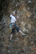 Rock Climbing Photo: Searching for a good foot hold. Not many at the st...