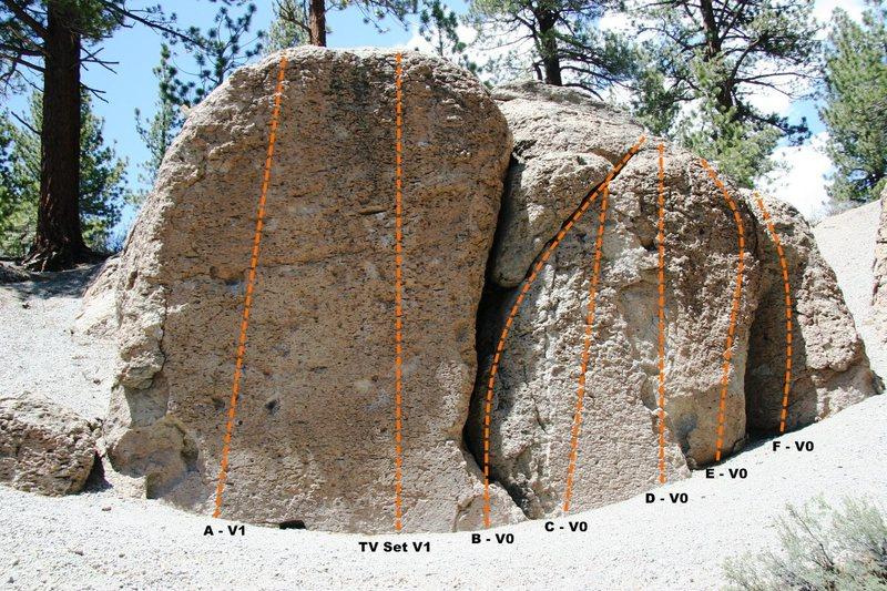 Rock Climbing Photo: Deadman I, Left Wing Topo