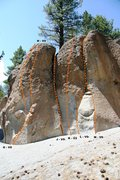 Rock Climbing Photo: Deadman I, Center Block - Center Topo