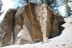 Rock Climbing Photo: Deadman I, Center Block - Right Topo