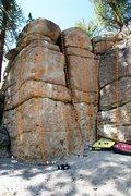 Rock Climbing Photo: Deadman IV - Left Topo