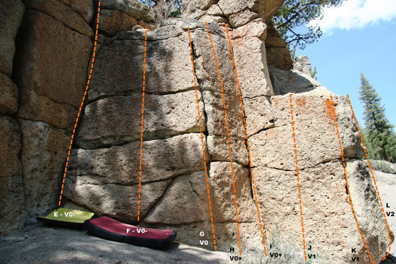 Rock Climbing Photo: Deadman IV - Right Topo