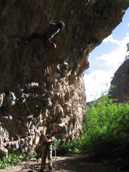 Rock Climbing Photo: Minko on Skeletor. Photo by Justin Jendzejec