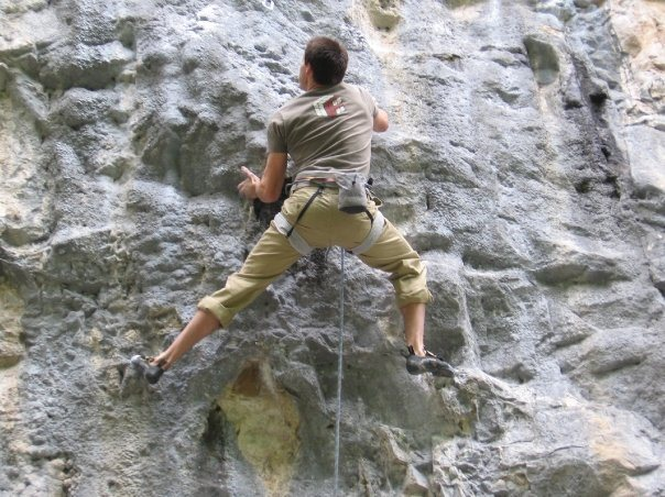 Rock Climbing Photo: Jerad entering the crux on Thieves. Photo by Justi...