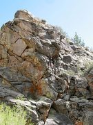Rock Climbing Photo: Just below the upper crux on Talk to Me (5.11a), 8...