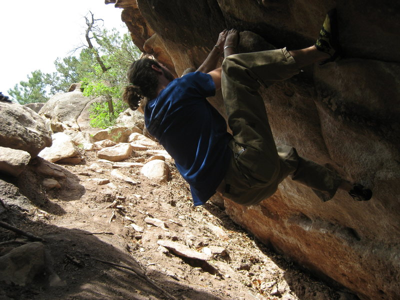 climbing some traverse passed the main wall.