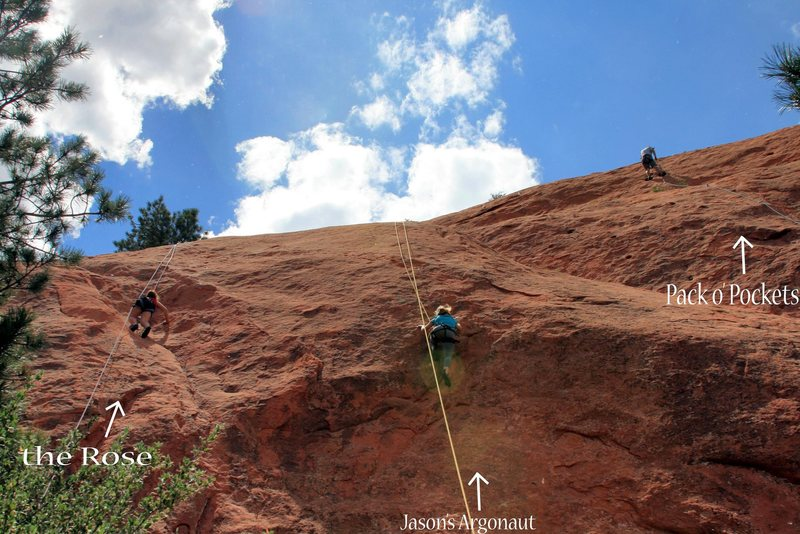 Rock Climbing Photo: The climbers on the 'The Rose' and 'Jason's Argona...