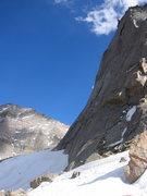 Rock Climbing Photo: Traversing below the inspiring east face of Spearh...