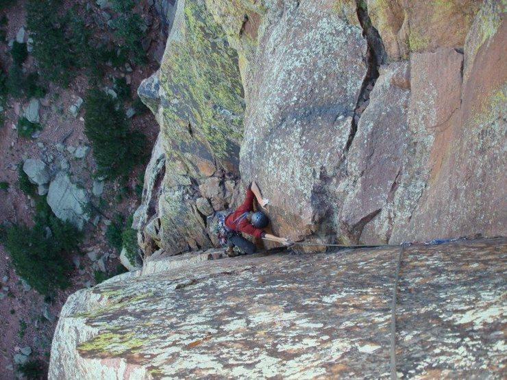 The Yellow Spur in Eldorado Canyon, CO