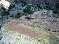 Rock Climbing Photo: The Yellow Spur in Eldorado Canyon, CO