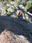 Rock Climbing Photo: The last pitch of Bear Mountain Picnic Massacre.  ...