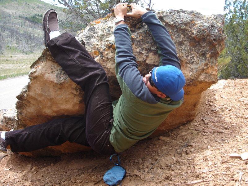 My mad bouldering skills.