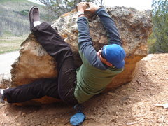 Rock Climbing Photo: My mad bouldering skills.