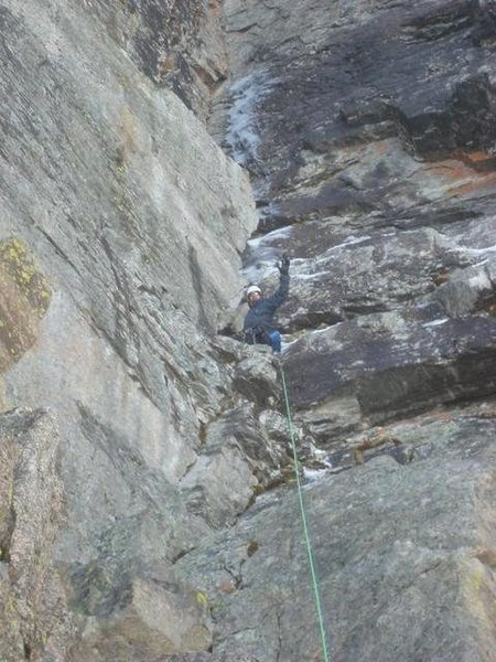 Rock Climbing Photo: A good look at the middle of the route.