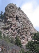 Rock Climbing Photo: Here is where we set the belay for the top of Pitc...