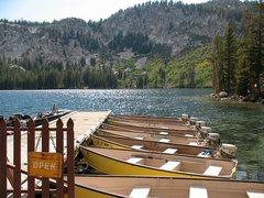 Rock Climbing Photo: Boat dock at Lake George, Mammoth Lakes Basin