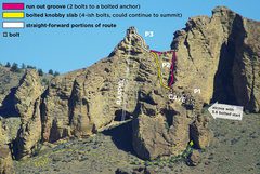 Rock Climbing Photo: Route-finding for Dummies. Myself, sometimes being...