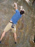 Rock Climbing Photo: Establishing myself on the two pinches.