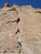 Rock Climbing Photo: At the crux of Zebra/Zion.