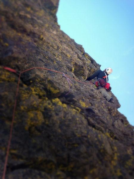 Rock Climbing Photo: Matt leading Dicking Around, 5.6-ish, on Dicker's ...