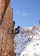 Rock Climbing Photo: Winter on the Peak.