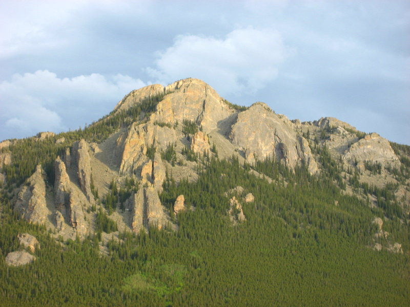 The Crags nearing sunset.