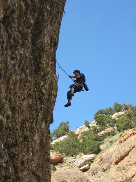 Me wipping at the second, less powerfull crux.