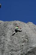 Rock Climbing Photo: Jugs leading Katey's Route...