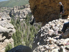 "Rock Climbing Photo: looking down at the 1st two pitches from ""cam..."