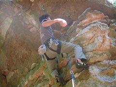 Rock Climbing Photo: Pumpy start