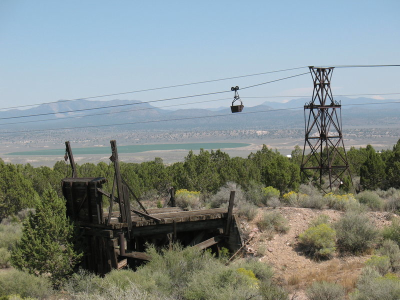 Abandoned mining relics in Pioche, Nevada